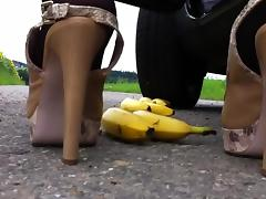 Banana, Banana, Car, Fetish, Pantyhose