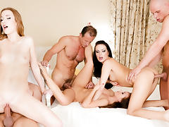 Samantha Johnson, Alexis Crystal, Bella Baby in Swingers Orgies #08, Scene #03