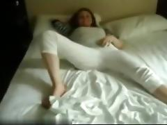 So sexy painted redhair girlfriend make a submissive hot blowjob in home