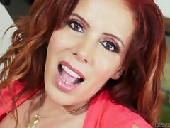 Thick redheaded MILF loves being plowed from behind