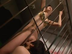 Dominant Miki Ishihara demands her pussy be pleasured by sub guys
