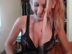 Golden-Haired  immature Gives Blowjob-Stimulation