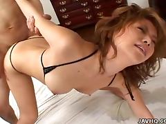 Asian slut squirts as she gets fucked hard and raw