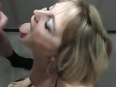 Cuck wife bukkake cum gulp