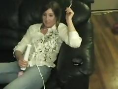 Lascivious mother I'd like to fuck play with sex toy and sucks weenie