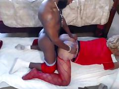 Hot amateur fuck with BBW ebony tranny
