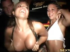Wild girls get completely naked at a party and show off their bodies