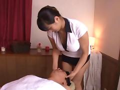 Dirty Asian slut with nice big tits enjoying a hardcore missionary style fuck