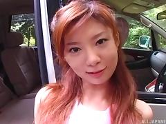 Park the car and pound dick into a slutty Japanese girl outdoors
