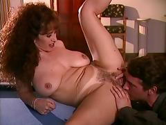Thick brunette slut with big tits sucks and fucks big dick on the pool table