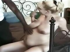 pretty yellow haired loves ebony penis