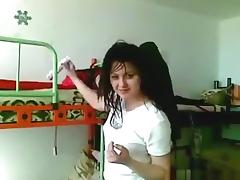 Ponytailed russian girl blows and dryhump rides her bf's cock pov in her bedroom