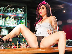 Joanna Angel & Bill Bailey in Bar Stripper Scene