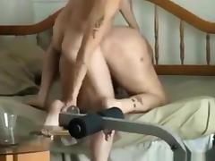 Skinny guy fucks this bbw anally. her pussy is too loose to feel anything.
