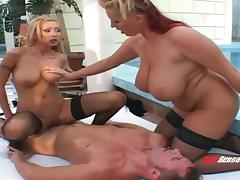 Huge tits lesbian likes watching her friend get fucked