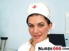 Czech nurse Rihanna Samuel uniform fetish