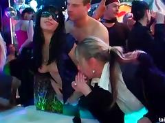 Hardcore party where everyone drinks and fucks on the dance floor