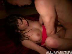 Erotic hotel fuck with a tight and horny Japanese girl