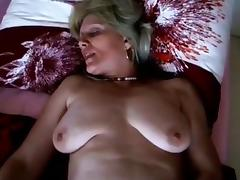 BLONDE MILF SYLVIA WITH BLACK PUSSY HAIR