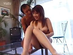 Hot Asian milf gets loads of cum on her amazing body