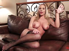 Sexy pornstar babes doing interviews with no clothes on