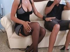 Mom and Boy, 18 19 Teens, Big Tits, Black, Blowjob, Boobs