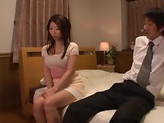Hardcore Japanese fucking with a thick creampie inside her