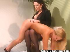 Boss Spanks Her Employee