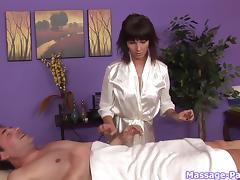 Carrie doesn't mess around when she gives an erotic massage