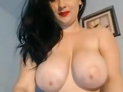 In my homemade big tit porn vid, I'm rubbing my cunt