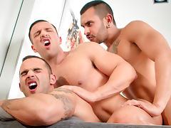 Lucio Saints & Adrian Toledo & Donato Reyes in Sexo In Barcelona - Part 1, Scene #01