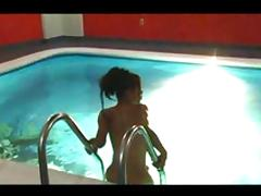 Jackie Mora masturbating in the pool