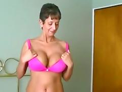 Dirty talking milf fucks her husband and gets a creampie
