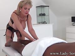 All, Black, Ebony, Interracial, Massage, Lady