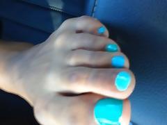 Keisha Blue Toenails