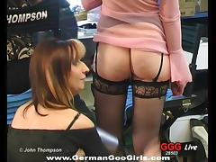German slut being gangbanged by a large number of men