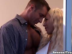 Tranny bride Aubrey Kate buttfucked
