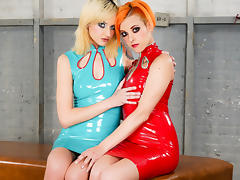 Phoenix Askani & Chelsea Grinds in Phoenix Askani and Chelsea Grinds - A Latex Dream Scene