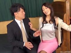 Hot Asian gangbang girl with breathtaking fake tits