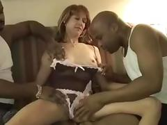 mature wife gets creamed by her two black friends