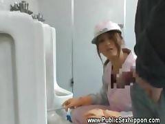 Public blowjob in the mens toilet