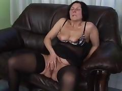 Granny in Stockings Toys and Fucks