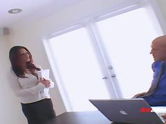 Very busty MILF in glasses likes hardcore sex with rough men