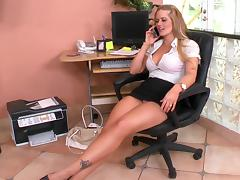 Tits, Blonde, Boobs, Boss, Office, Tits