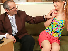 TrickyOldTeacher - Challenged student sucks and fucks older teacher until filled up