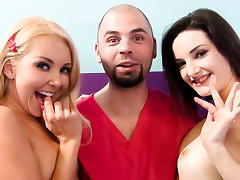Aaliyah Love, Tegan Mohr, Ralph Long in Aaliyah Love's Wild Squirt Threesome Video
