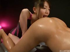 Cutest Asian chick gives her partner a breathtaking erotic massage