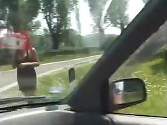 Hard Tranny Fucking In A Car