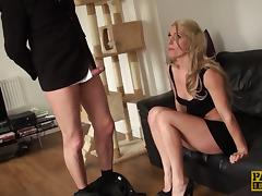 Bad girl gets her round ass spanked until it is red