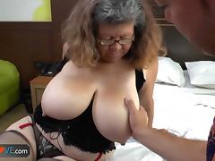 Old, Banging, Big Tits, Boobs, Granny, Group